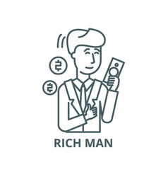 rich man line icon linear concept outline vector image