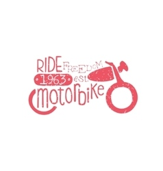 Ride Motorbike Red Vintage Emblem vector