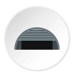Round garage icon flat style vector