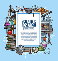 scientific research and laboratory experiment vector image