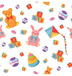 Seamless Pattern with Children Toys background vector
