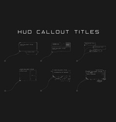 set callout titles in hud style futuristic sci vector image