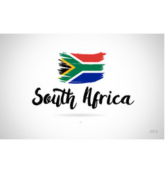 South africa country flag concept with grunge vector