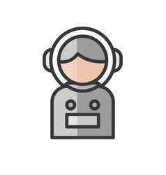 Spaceman avatar science and space character user vector