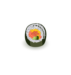 sushi roll isolated on white background vector image