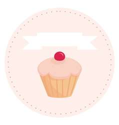 sweet retro cupcake vector image