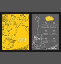 template different types cocktail for menu vector image