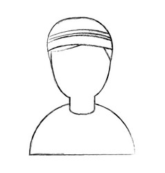 Tennis player avatar character vector