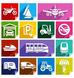 Transport flat icon bright color-08 vector image