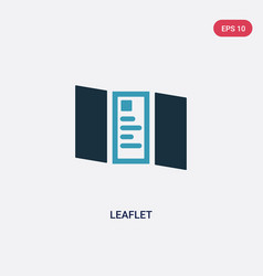 Two color leaflet icon from political concept vector