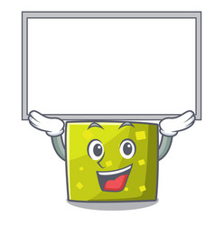 Up board square character cartoon style vector