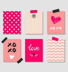 Valentines day gift cards vector