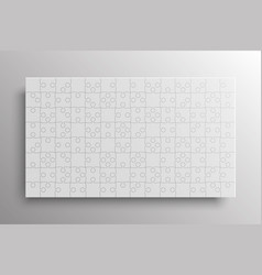 white pieces puzzle banner jigsaw banner frame vector image