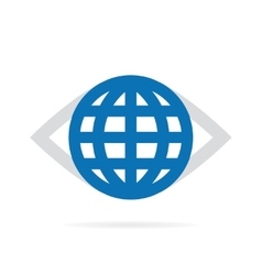 World eye logo vector image