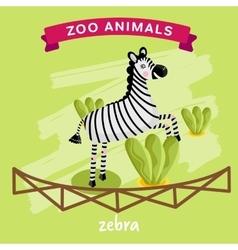 Zoo Animal Zebra vector image