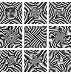 Abstract patterns set vector image vector image