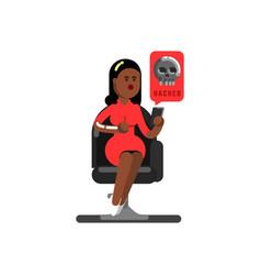 Black woman personal information vector