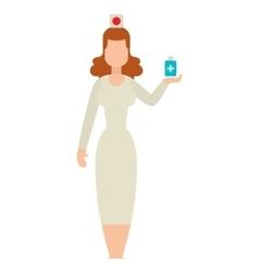 Doctor people woman vector image