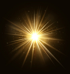 gold star burst golden light explosion isolated vector image vector image