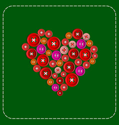 button-heart background picture red to green vector image