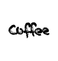 coffee text calligraphic lettering vector image vector image