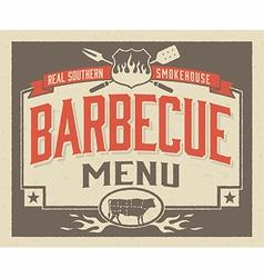 Genuine southern barbecue menu design vector
