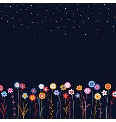 pattern floral background herbal vector image vector image