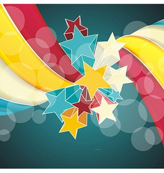 Ribbons and stars isolated on white background vector image vector image