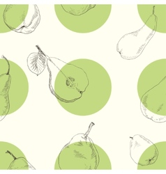 Seamless texture of a pear vector image