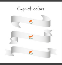 set of three ribbon with the cypriot colors vector image vector image