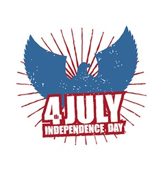 American Independence Day Eagle in grunge style vector image vector image