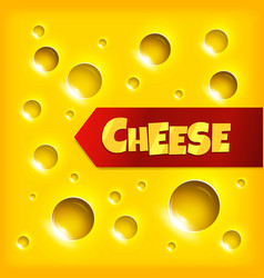 cheese slice seamless texture background vector image vector image