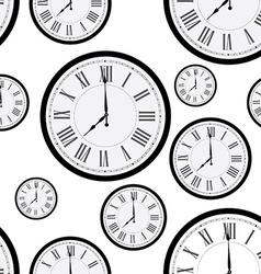 Clock pattern vector image vector image