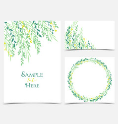 decoration of branches and leaves vector image