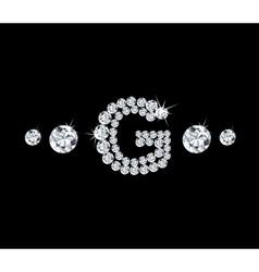 Diamond alphabetic letter G vector image