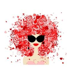 Fashion woman portrait for your design vector image vector image