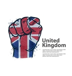 fist the flag of england britain uk vector image