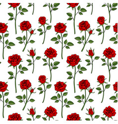 Floral english victorian seamless background vector