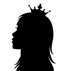 profile of princess vector image vector image
