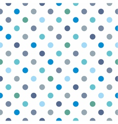 Seamless pattern blue polka dots background vector image vector image