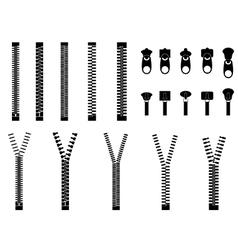 Zippers vector image vector image