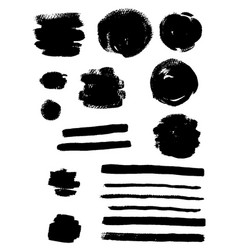 black ink blots vector image vector image