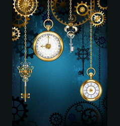 design with clocks and gears vector image vector image