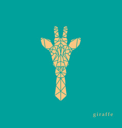 giraffe head geometric lines silhouette vector image vector image