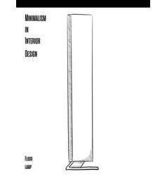 high rectangular floor lamp in a circuit on a vector image