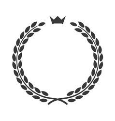Laurel wreath icon flat crown vector image vector image