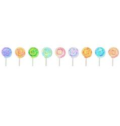 Lollipops horizontal banner vector image vector image