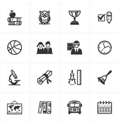 School and Education Icons - Set 3 vector image vector image