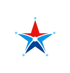 Star symbol abstract decoration logo vector