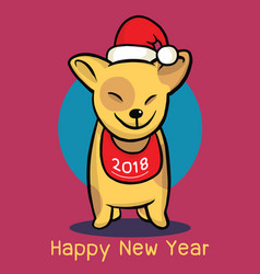 2018 happy new year greeting card christmas vector